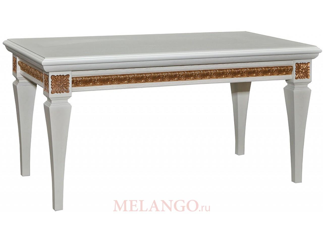 Журнальный стол «Милана 05» П299.05 (слоновая кость с золочением)