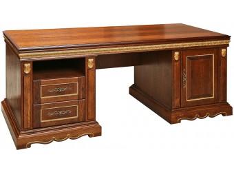 Письменный стол «Милана 1П» П396.01 (черешня с золочением)