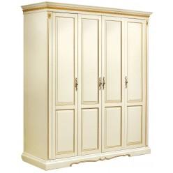 Шкаф для одежды «Милана 02/1» П294.24 (слоновая кость с золочением)