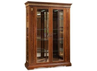 Шкаф-витрина для гостиной «Милана 5» П265.05 (черешня с золочением)