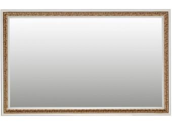 Зеркало настенное «Милана 18» П265.18 (слоновая кость с золочением)
