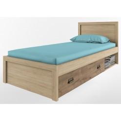 Односпальная кровать Дизель 90/D1 дуб веллингтон с выдвижным ящиком