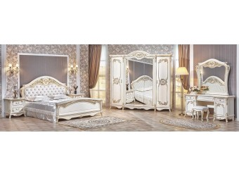 Спальня Даниэлла (крем) 5-и дверный шкаф