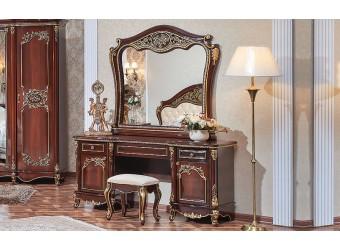 Туалетный столик с зеркалом Даниэлла (темный орех)