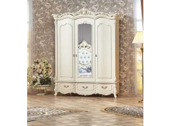Шкаф 3-х дверный Элиза Люкс (крем)