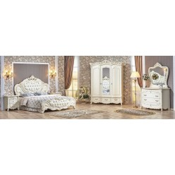 Спальня Элиза Люкс (крем) 3-х дверный шкаф