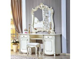 Туалетный столик с зеркалом Лорена (крем)