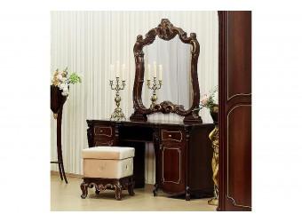 Туалетный столик с зеркалом Лорена (темный орех)