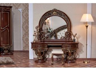 Туалетный столик с зеркалом Марелла (темный орех)