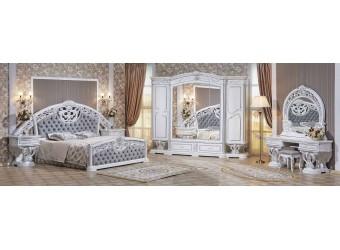 Спальня Марелла (белый с серебром) 6-и дверный шкаф