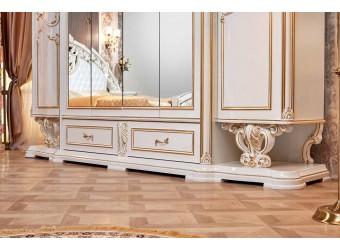 Шкаф 6-х дверный Марелла (белый с золотом)