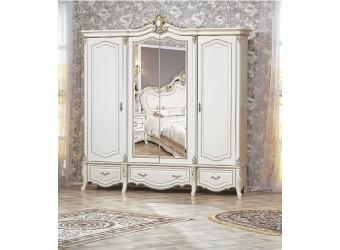 Шкаф 4-х дверный Медея (крем)