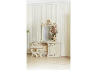 Туалетный столик с зеркалом Меланж (крем)