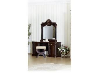 Туалетный столик с зеркалом Меланж (темный орех)