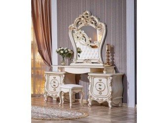 Туалетный столик с зеркалом Орнелла (крем)