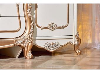 Туалетный столик с зеркалом Орнелла (крем,шампань)