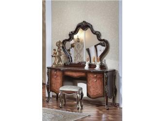Туалетный столик с зеркалом Сандра (орех)