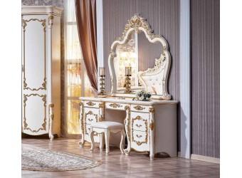Туалетный столик с зеркалом Венеция (крем)