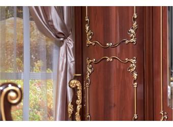Шкаф 6-х дверный Венеция (темный орех)