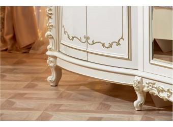 Туалетный столик с зеркалом Версаль (крем)