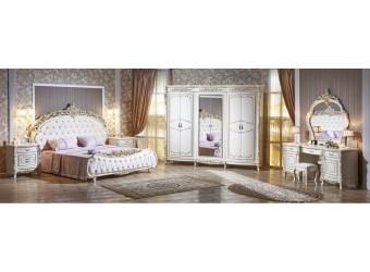 Спальня Версаль (крем) 6-ти дверный шкаф