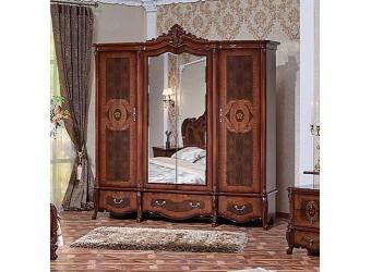 Шкаф 4-х дверный Виктория (орех фарина)