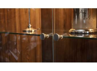 Двустворчатый шкаф витрина для посуды Алегро ALEG-13