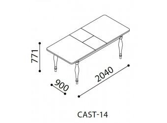 Раздвижной обеденный стол для гостиной Кастелло CAST-14