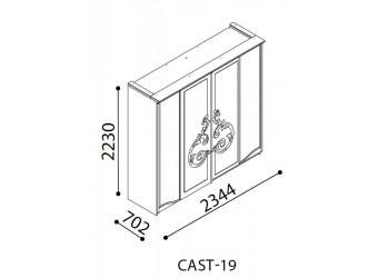 Шкаф купе Кастелло CAST-19