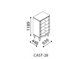 Узкий бельевой комод Кастелло CAST-28