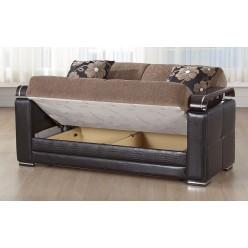 Двухместный диван Экол EKOL-03 от Беллона в ткани S1132 (YUKY, коричневый)