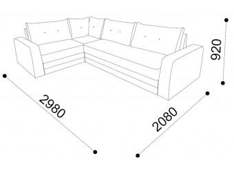 Угловой диван-кровать MONACO (MNCO-01)