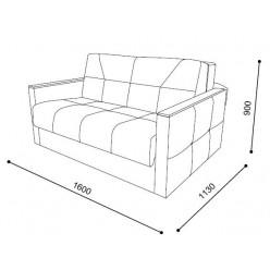 Двухместный диван-кровать VERONA-03 (Верона)