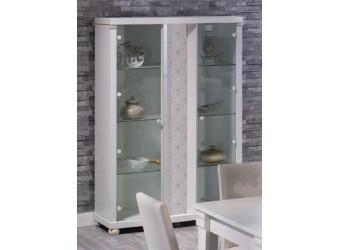 Двухстворчатый шкаф витрина в гостиную Мира MIRA-01 белый