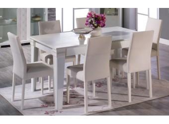 Обеденный стул для гостиной Мира MIRA-05-01 белый