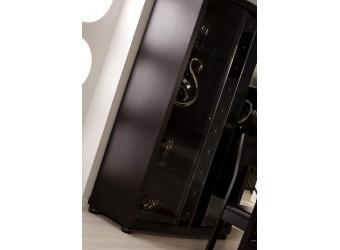 Двухстворчатый шкаф витрина в гостиную Мира MIRA-01 венге