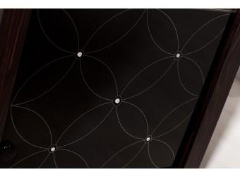 Одностворчатый шкаф витрина для посуды Мира MIRA-02 венге