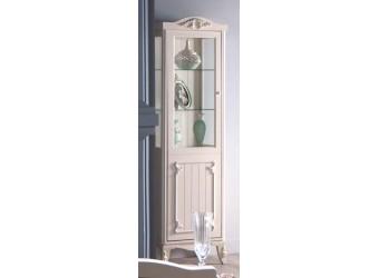 Одностворчатый шкаф витрина для посуды в гостиную Романс RMNC-12