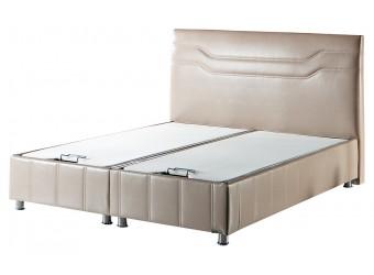Двуспальная кровать с подъемным механизмом и мягким изголовьем Ферро FERRO