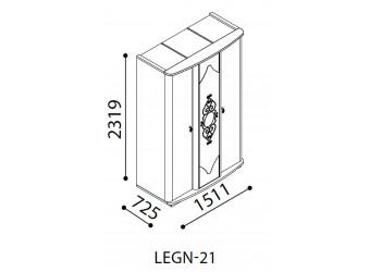 Трехстворчатый шкаф Легенда венге LEGN-21