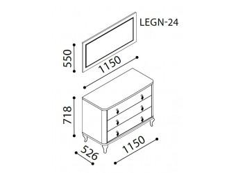 Туалетный столик-комод Легенда (Legenda) LEGN-23