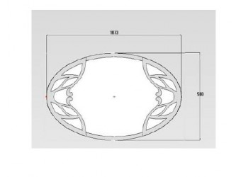 Овальное зеркало для комода Пальма PALMA-24