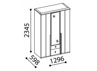 Трехстворчатый шкаф для одежды SANTINO SNTO-21