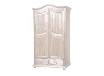Двухстворчатый шкаф для одежды Лотос сосна БМ-2190 BRU (брашированный крем)