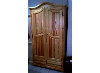 Двухстворчатый шкаф для одежды Лотос сосна БМ-2190 (искусственное старение)