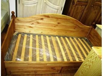 Односпальная кровать Лотос сосна (искусственное старение)