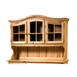Настенный шкаф-витрина Лотос сосна Б-1077-01 (натуральная сосна)