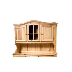 Настенный шкаф-витрина Лотос сосна Б-1077 (натуральная сосна)