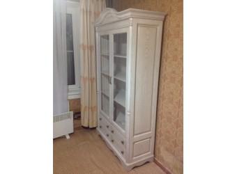 Книжный шкаф-витрина Паола БМ-2151 (розовый пепел)