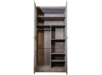 Двухдверный шкаф для одежды Доминика (белый воск)